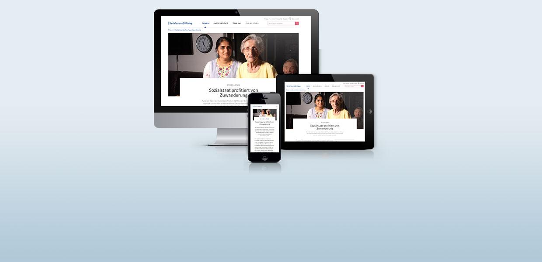 Bertelsmann Stiftung mit neuem Internet-Auftritt