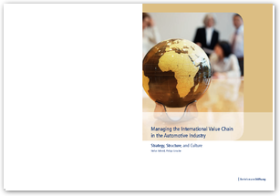 Managing the International Value Chain in the Automotive