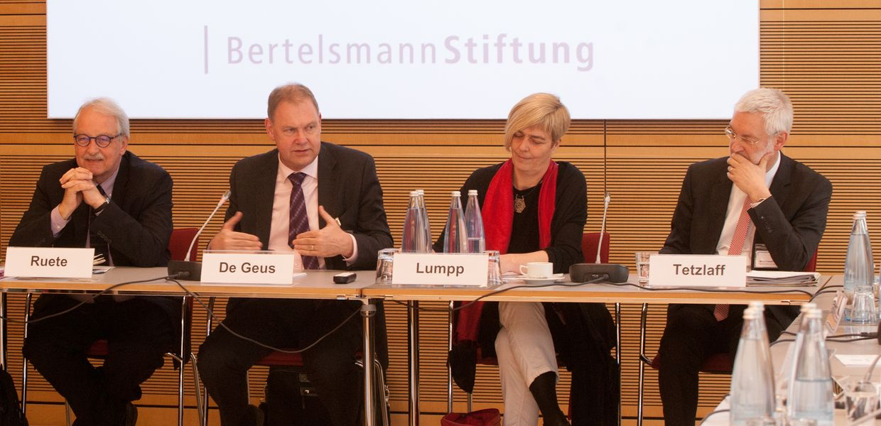 The roundtable on European asylum policy in Berlin on March 22, 2017.