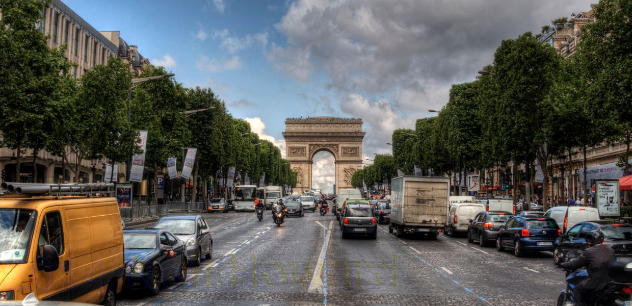 The Champs Elysees in Paris.