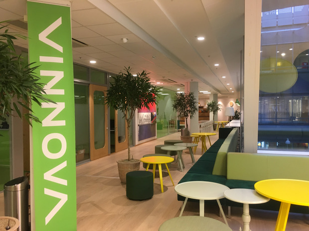 View into the offices of VINNOVA in Stockholm