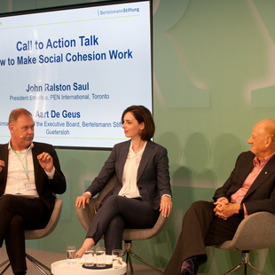 Production Conference, Call to Action Talk, Aart De Geus, Sarah Kelly (Moderation), John Ralston Saul