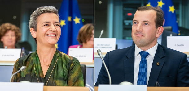 Vestager_Sinkevicius_NEU.jpg(© CC-BY-4.0: © European Union 2019 – Source: EP, https://creativecommons.org/licenses/by/4.0/)