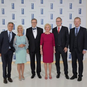 Toomas Hendrik Ilves with the Bertelsmann Stiftung executive board and Prof. Jan Gulliksen